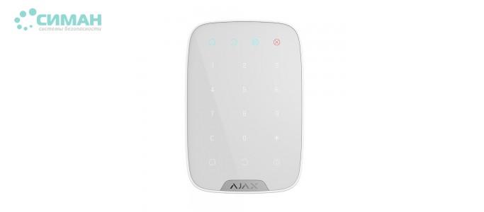 Беспроводная сенсорная клавиатура AJAX KeyPad белый