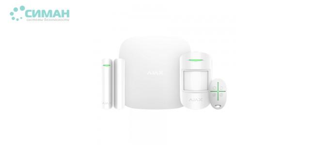 Комплект беспроводной сигнализации AJAX StarterKit Plus белый