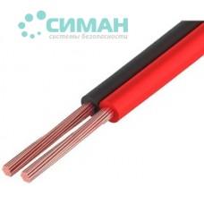 Акустический кабель Dialan CCA 2x0,75 мм черно-красный