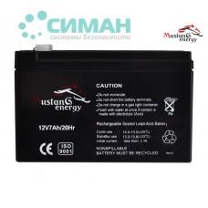 Аккумуляторная батарея АКБ 7 Ач 12В Mustang Energy