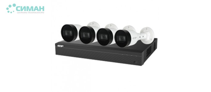 Комплект видеонаблюдения Dahua EZIP-KIT/NVR1B04HC-4P/E/4-B1B20